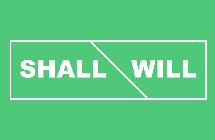 Разница между shall и will