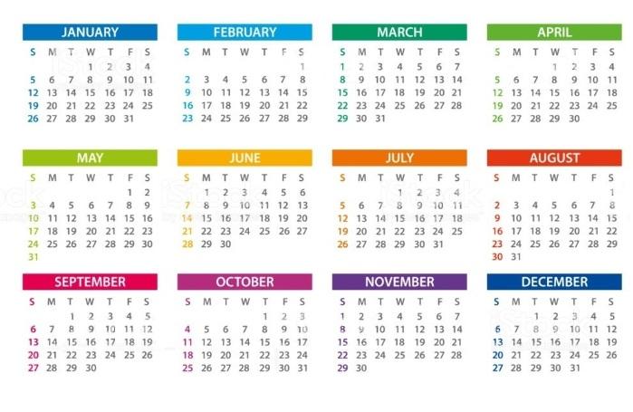 времена года на английском